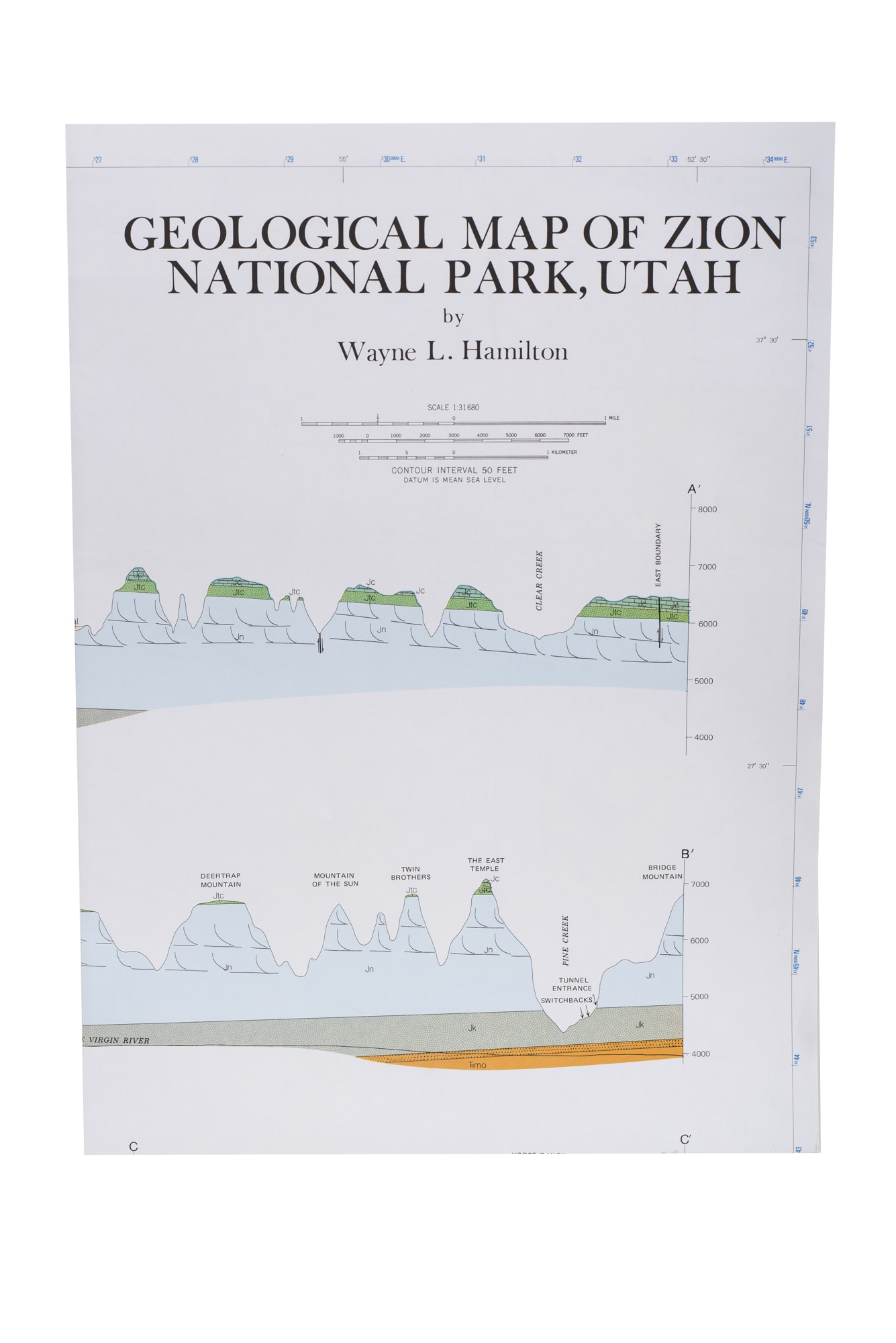 Geological Map of Zion National Park – Zion Natl Park Forever Project