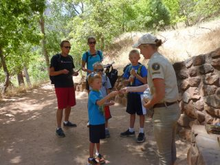 Emerald Pools Trailhead_Visitor Engagement_2016