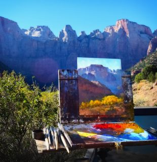 Applications are now being accepted for the 2017 Zion National Park Plein Air Invitational. Painting by James McGrew, Lake Oswego, OR.