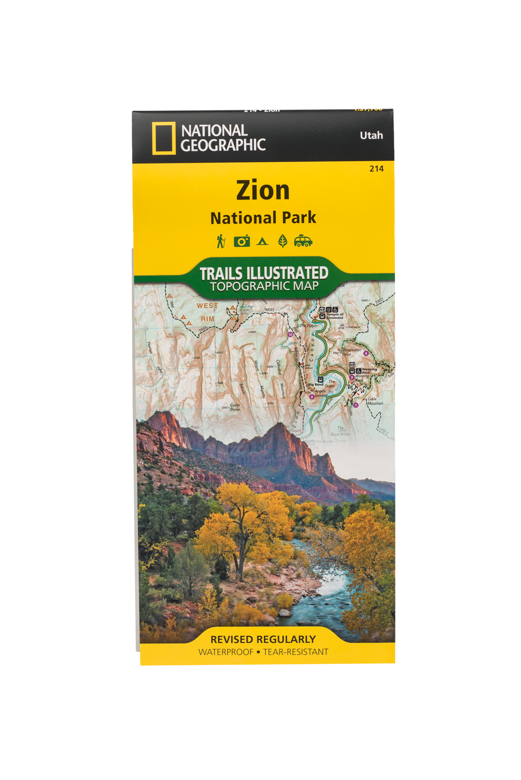 Zion National Park Trails Illustrated Map | Zion National Park ... on city of rocks national reserve map, st. george map, arches national park topographic map, redwood national park map, lake tahoe map, denali national park and preserve map, monument valley map, acadia national park on a map, salt lake city map, canyonlands national park road map, grand canyon map, angels landing trail map, zion subway map, symbol national park on map, antelope canyon map, bryce canyon np map, death valley map, sequoia national park map, bryce canyon road map, grand staircase escalante national monument map,